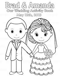 elegant personalized wedding coloring book