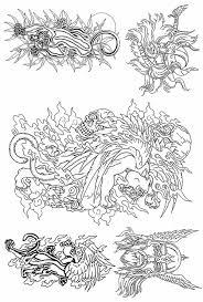 оптово формат Pdf татуировки книга тигр орел змея дракон тату тату книга флэш книга