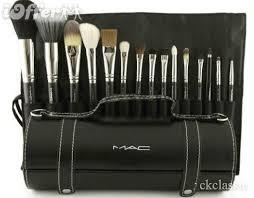 brand new 15pcs makeup brush set with leather bag