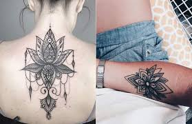 lotus flower tattoo ideas 2 tribal women
