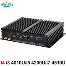 <b>Partaker Fanless Industrial</b> Mini PC Win10 Core i3 i5 i7 2*Intel ...