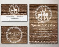Rustic Winter Wedding Invitations Rustic Winter Wedding Invitations Elegant Deer Wedding Invitation