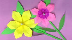 Making Of Flower With Paper How To Make Origami Flower With Paper Making Paper Flowers
