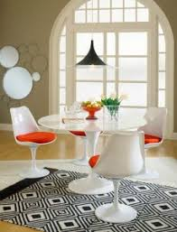 lippa 36 inch dining table in white green cushionsseat