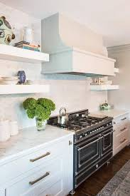 Chunky White Floating Shelves Chunky Floating KItchen Shelves Transitional Kitchen 54
