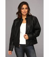 plus size leather jackets womens fresh lyst jessica simpson plus size quilted faux leather moto jacket