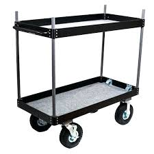 Folding Office Cart Collapsible With Wheels Portable Shopping On