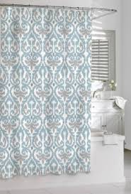 gray and blue shower curtain. get quotations · shower curtain kassatex scrolled ikat blue grey white 72 x cotton gray and t