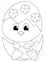 Easter Coloring Pages Bunny And Chick A To Z Teacher Stuff
