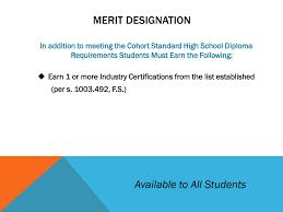 Merit Designation Ppt Graduation Requirements Powerpoint Presentation Free