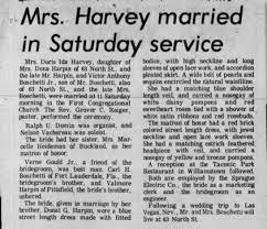 Doris Ida Harpin Harvey marries Victor Anthony Boschetti, Jr -  Newspapers.com