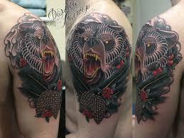 идеи татуировки медведь эскизы и работы