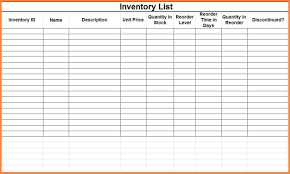 Blank Inventory List Blank Small Business Inventory Control Checklist Spreadsheet