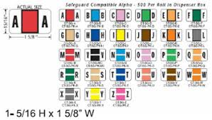Safeguard Compatible File Folder Labels Color Code Labels