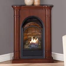 duluth forge dual fuel vent free fireplace with mantel btu propane stat patio wood burner outdoor