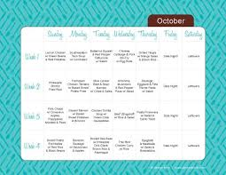 Menu Planner Perfect Menu Planning Template Monthly