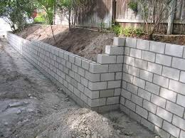 Small Picture Cinder Block Retaining Wall with the installation Landscaping