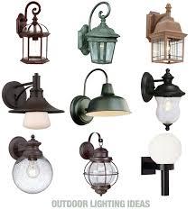 inspiration board of outdoor lighting ideas