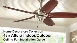how to install 48 in altura ceiling fan by home decorators