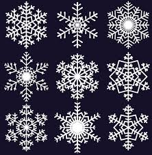 Snowflake Patterns Beauteous Different Snowflake Pattern Mix Vector Graphics 48 Free Download