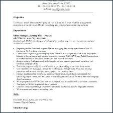 Career Change Objective Resume Resume Bank
