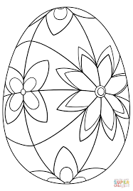 Detailed Easter Egg Coloring Page Free Printable Coloring Pages