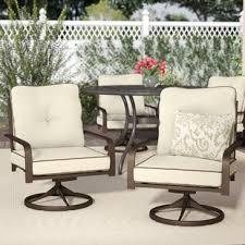 Outdoor metal chair Plastic Jaydin Swivel Lounge Chair set Of 2 Crate And Barrel Metal Outdoor Furniture Birch Lane
