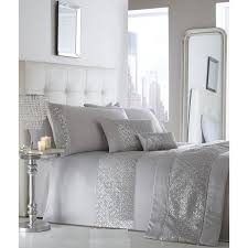 shimmer silver duvet cover set king size