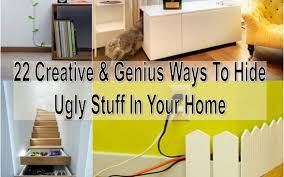 22 Creative & Genius Ways To Hide Ugly Stuff In Your Home