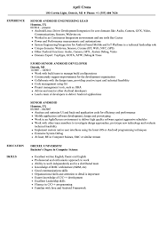 Senior Android Resume Samples Velvet Jobs