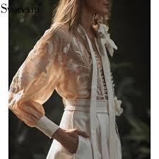 <b>Svoryxiu Fashion Designer</b> Autumn Embroidery Blouse Shirt ...