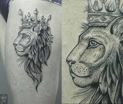 эскиз тату лев в короне фото и эскизы короны примерь на себе титул