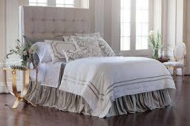 lili alessandra soho white linen with ice silver velvet applique bedding collection