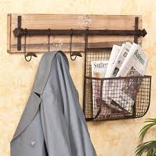 Wall Coat Rack With Storage