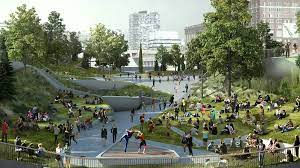 Little island has overcome several obstacles since it was announced in 2014. Welcome To Little Island Park Hudson River S Floating Green Space Hoboken Girl