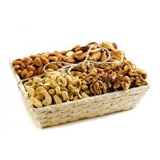 healthy raw walnuts almonds and cashews natural nut gift basket lebanon