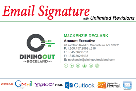 Email Signature Html Create Professional Clickable Html Email Signature
