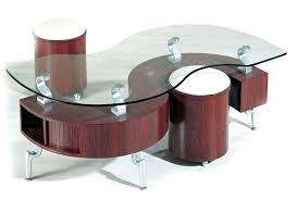 coffee table tables with stools underneath on round nice glass top nesting