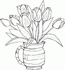 Flower Coloring Pages For Adults Spring Flowers Coloring Page Flower