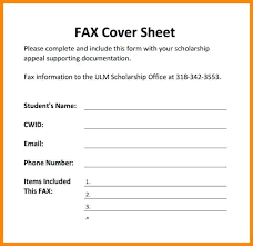 Downloadable Fax Cover Sheets 15 Downloadable Fax Cover Sheet Statement Letter