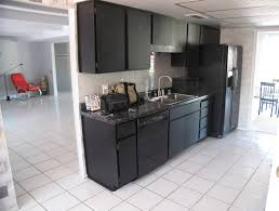 Kitchen Design Black Appliances With Red Chair Black Apartment Size