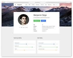 Template Best Resume Website Templates For Online Cv Wplook Studio