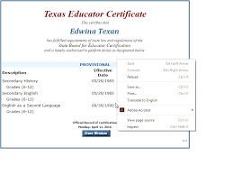 Sbec Teacher Certification Search Site About Letter Sample