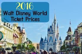 Disney World Ticket Price Chart Current Disney World Ticket Prices Walt Disney World
