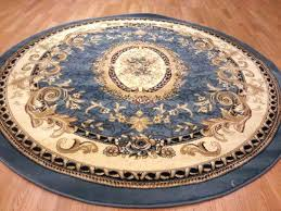 blue circle rug round area rugs strikingly comely classic french traditional medallion circular target light