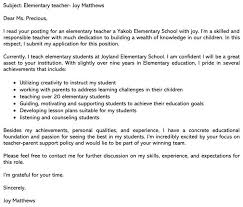 best teaching cover letter sle and