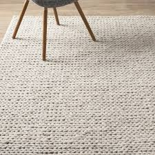 mercury row dunfee chunky hand woven wool off white area rug with rugs inspirations 3
