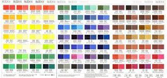 Oil Paint Colour Chart Blockx Oil Paint Printed Colour Chart Paint Color