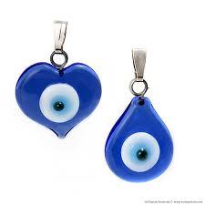 turkish blue evil eye good luck pendant original evil eye pendant in glass designs by