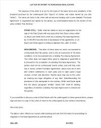 Letter Of Intent Real Estate Gorgeous Letter Of Intent Form Sample Real Estate Template Inspirational